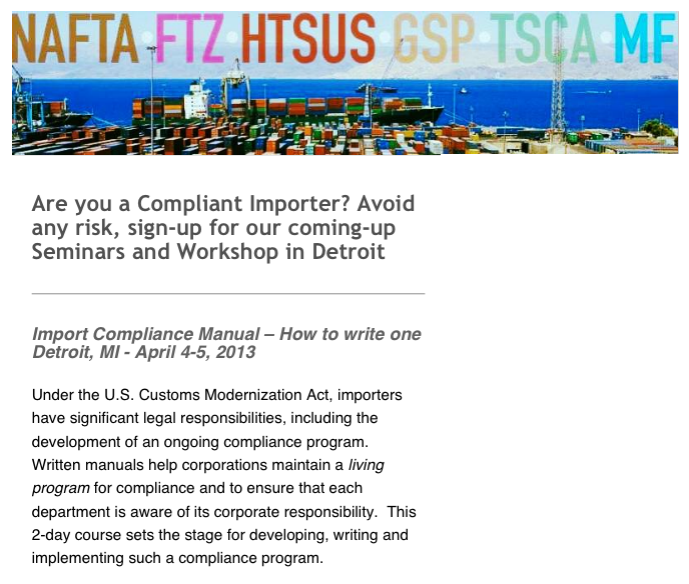 US importers have to delegate responsibilities